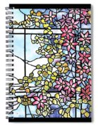 Stained Glass Tiffany Floral Skylight - Fenway Gate Spiral Notebook