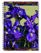 Tiffany Style Blue Iris Spiral Notebook