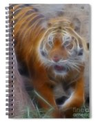 Tiger-5362-fractal Spiral Notebook