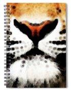Tiger Art - Burning Bright Spiral Notebook