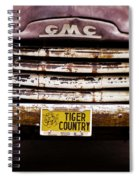 Tiger Country - Purple And Old Spiral Notebook