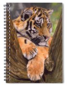 Tiger Cub Painting Spiral Notebook