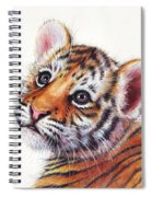 Tiger Cub Watercolor Painting Spiral Notebook