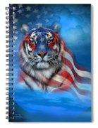 Tiger Flag Spiral Notebook
