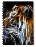 Tiger Fractal Spiral Notebook