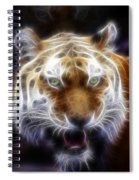 Tiger Greatness Digital Painting Spiral Notebook