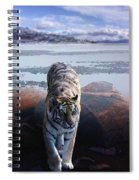 Tiger In A Lake Spiral Notebook