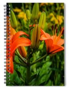 Tiger Lily Blossoms Spiral Notebook