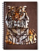 Tiger Majesty Typography Art Spiral Notebook