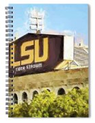 Tiger Stadium - Bw Spiral Notebook