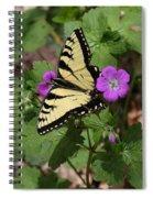 Tiger Swallowtail Butterfly On Geranium Spiral Notebook
