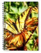 Tiger Swallowtail On Yellow Wildflower Spiral Notebook