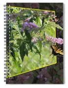 Tiger Swallowtail Oob-featured In Beautycaptured-oof-harmony And Happiness Spiral Notebook