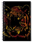 Tiger Watercolor - Black Spiral Notebook