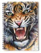 Tiger Watercolor Portrait Spiral Notebook