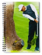 Tiger Woods Hits A Shot From The Rough Spiral Notebook