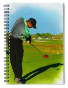 Tiger Woods  - Second Round Of The Honda Classic Spiral Notebook