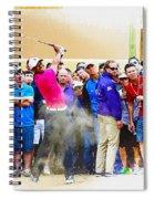 Tiger Woods - The Waste Management Phoenix Open At Tpc Scottsdal Spiral Notebook