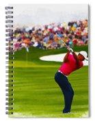 Tiger Woods - The Waste Management Phoenix Open  Spiral Notebook