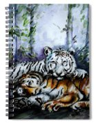 Tigers-mother And Child Spiral Notebook