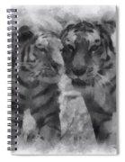 Tigers Photo Art 01 Spiral Notebook
