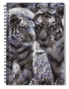 Tigers Photo Art 02 Spiral Notebook