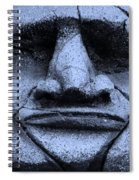 Tiki Mask Cyan Spiral Notebook