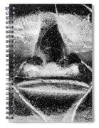 Tiki Mask Negative Spiral Notebook