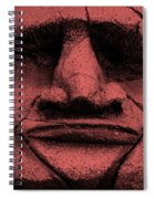 Tiki Mask Salmon Spiral Notebook