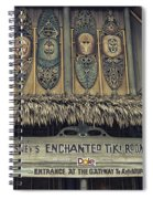 Tiki Room Adventureland Disneyland Spiral Notebook