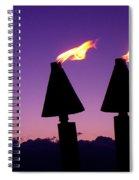 Tiki Torches Spiral Notebook