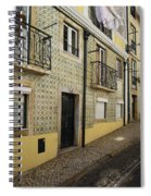 Tile Walls Of Lisbon Spiral Notebook