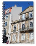 Tiled Building In Chiado District Of Lisbon Spiral Notebook
