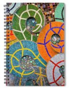 Tiled Swirls Spiral Notebook