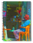 Tim Hortons Coffee And Donuts Sunday Aternoon At Tims Plateau Montreal Cafe Scene Carole Spandau Spiral Notebook