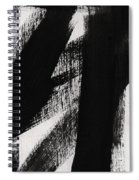 Timber- Vertical Abstract Black And White Painting Spiral Notebook