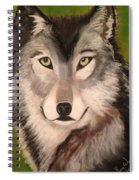 Timber Wolf In Summer Spiral Notebook