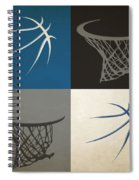 Timberwolves Ball And Hoop Spiral Notebook