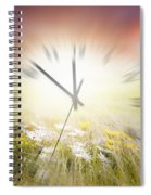 Time Blurred Spiral Notebook