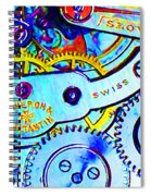 Time In Abstract 20130605 Long Spiral Notebook