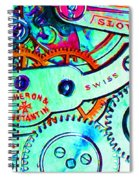 Time In Abstract 20130605m36 Long Spiral Notebook