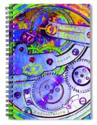 Time In Abstract 20130605m36 Square Spiral Notebook