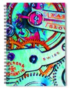 Time In Abstract 20130605m36 Spiral Notebook