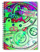Time In Abstract 20130605m72 Square Spiral Notebook
