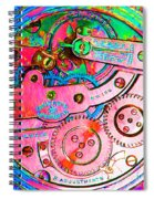 Time In Abstract 20130605p144 Square Spiral Notebook