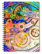 Time In Abstract 20130605p180 Square Spiral Notebook