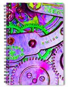 Time In Abstract 20130605p72 Long Spiral Notebook