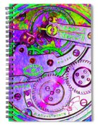 Time In Abstract 20130605p72 Square Spiral Notebook