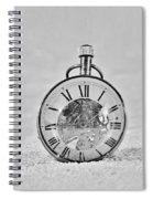 Time In The Sand In Black And White Spiral Notebook