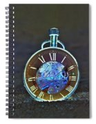 Time In The Sand In Negative Spiral Notebook
